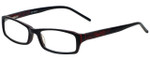 Calabria Designer Eyeglasses 819-BLK in Black 52mm :: Rx Single Vision
