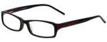 Calabria Designer Eyeglasses 819-BLK in Black 52mm :: Rx Bi-Focal