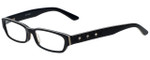 Calabria Designer Eyeglasses 820-BLK in Black 50mm :: Custom Left & Right Lens