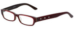 Calabria Designer Eyeglasses 820-RED in Red 50mm :: Progressive