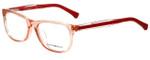 Emporio Armani Designer Eyeglasses EA3001F-5070-52 in Peach Transparent 52mm :: Custom Left & Right Lens