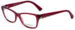 Emporio Armani Designer Eyeglasses EA3023-5199 in Cyclamen Pink Transparent 52mm :: Custom Left & Right Lens