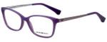 Emporio Armani Designer Eyeglasses EA3026-5128-54 in Pearl Lilac 54mm :: Custom Left & Right Lens