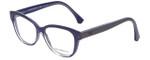 Emporio Armani Designer Eyeglasses EA3033-5225 in Transparent Lilac 53mm :: Custom Left & Right Lens