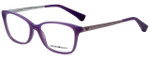 Emporio Armani Designer Eyeglasses EA3026-5128-52 in Pearl Lilac 52mm :: Rx Single Vision