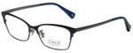 Coach Designer Eyeglasses HC5041-9142-53 in Satin Navy/Satin Gunmetal 53mm :: Custom Left & Right Lens