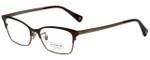Coach Designer Eyeglasses HC5041-9143-53 in Satin Brown/Sand 53mm :: Rx Single Vision