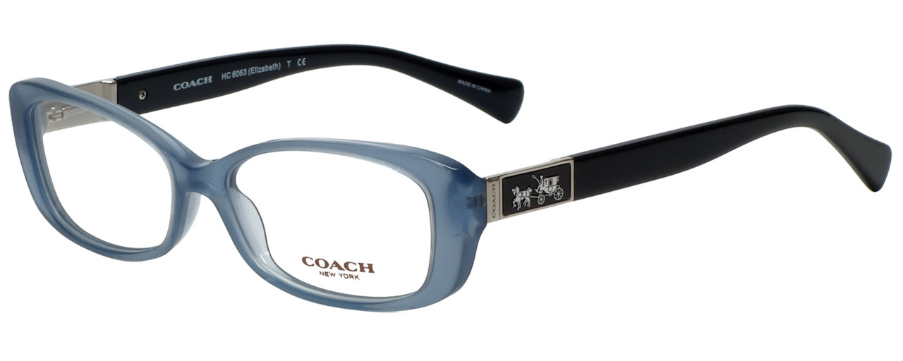 4b9668d21a Coach Designer Reading Glasses HC6063-5259 in Milky Blue Black 53mm.  Loading zoom