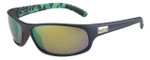 Bollé Anaconda Designer Sunglasses in Matte Blue Green with Green Mirror
