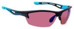 Bollé Sunglasses: Bolt in Matte  Black Blue with Rose Lens
