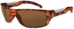 Bollé Polarized Sunglasses: Vibe in Shiny Tortoise with Amber Lens
