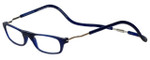 Clic Magnetic Eyewear XXL Fit Original Style in Frosted Blue :: Rx Single Vision