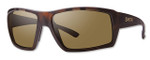 Smith Optics Challis Designer Sunglasses in Matte Tortoise with Polarized Brown Lens