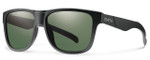 Smith Optics Lowdown XL Sunglasses in Matte Black with Polarized Gray Green Lens