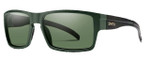 Smith Optics Outlier XL Designer Sunglasses in Matte Olive Camo with Polarized Grey Green Lens