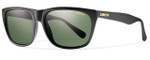 Smith Optics Tioga Sunglasses in Matte Black with Polarized Grey Green Lens