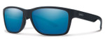 Smith Optics Wolcott Sunglasses in Black with Polarized Blue Mirror Lens