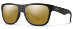 Smith Optics Lowdown Slim Sunglasses in Matte Black with Polarized Brown Mirror Lens
