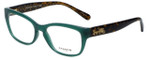 Coach Designer Eyeglasses HC6104-5451 in Teal/Dark Tortoise 52mm :: Rx Single Vision