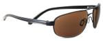 Serengeti Polarized Sunglasses 7769 in Satin Black with Amber Lens