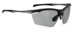 Rudy Project Agon Polarized Sunglasses in Matte Black with Smoke Lens
