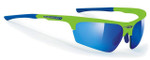 Rudy Project Noyz Sunglasses in Green Fluo with Multilaser Blue Lens