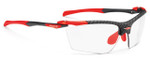 Rudy Project Proflow Sunglasses in Carbonium with Photochromic Laser Red Lens