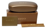 Gucci Hard Clam Shell Eyeglass Case in Bronze