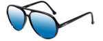 Ion SC20 Aviator Sunglasses in Black with Polarized Blue Mirror Lens