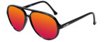 Ion SC20 Aviator Sunglasses in Black with Polarized Red Mirror Lens