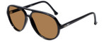 SC20 Aviator Sunglasses in Black with Polarized Brown Lens