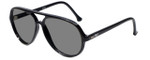SC20 Aviator Sunglasses in Black with Polarized Grey Lens