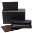 Persol Authentic Sunglasses Case in Soft Black Leather