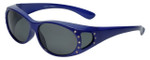 Calabria RS2866POL-A Polarized FitOver Sunglasses with Rhinestone Medium Size