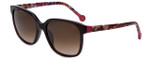 Carolina Herrera Designer Sunglasses SHE687-0G73 in Brown