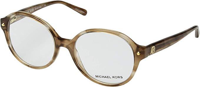 c2ff2e994346 Michael Kors Designer Eyeglasses MK4041-3235-51 in Brown Stripe 51mm :: Rx  Single Vision. Loading zoom