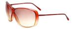 Gianfranco Ferre 604S Designer Sunglasses in Red Transparemt Fade