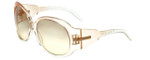 Gianfranco Ferre GFF591S Designer Sunglasses in Transparent Peach