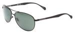 Hugo Boss Polarized Aviator Sunglasses B0824-0YZ2 in Black with Green Lens