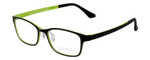 Calabria Viv 2001 Designer Eyeglasses in  Black Green :: Rx Single Vision