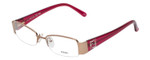 Fendi Designer Eyeglasses F1043R-663 in Gold Rose 49mm :: Custom Left & Right Lens