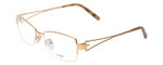 Fendi Designer Eyeglasses F612R-757 in Gold 54mm :: Custom Left & Right Lens