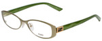 Fendi Designer Eyeglasses F899-317 in Matte Green 50mm :: Rx Single Vision