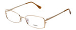 Fendi Designer Eyeglasses F960-714 in Gold 52mm :: Rx Single Vision