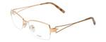 Fendi Designer Eyeglasses F612R-757 in Gold 54mm :: Progressive