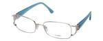 Fendi Designer Reading Glasses F848R-028 in Blue Jean 54mm