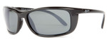 Reptile Designer Polarized Sunglasses Whiptail in Black with Grey Lens