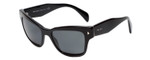 Prada SPR29R-1AB1A1 Designer Sunglasses in Black with Grey Lens