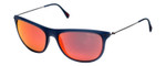 Prada SPS01P-JAP6Y1 Designer Sunglasses in Blue with Red Mirror Lens