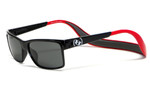 Copy of Hoven Eyewear MONIX in Black / Red with Gloss Grey & Grey Polarized